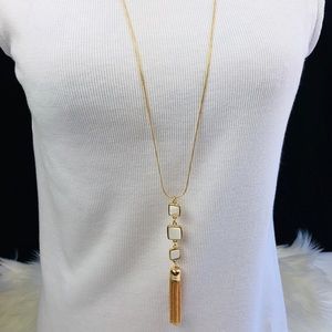 Jewelry - Long, gold overlay fashion necklace
